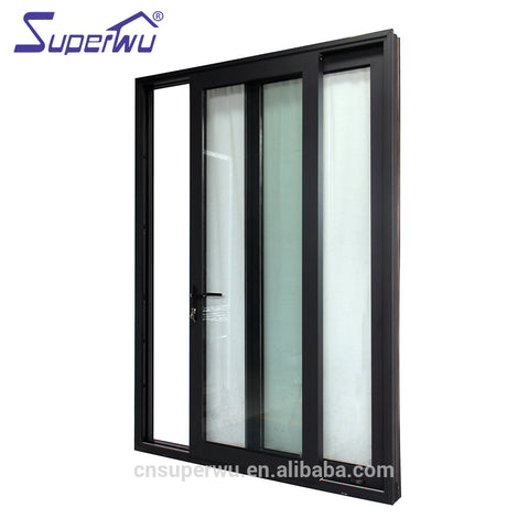 Miami Dade Code standards waterproof hurricane impact aluminium alloy exterior sliding glass doors prices on China WDMA