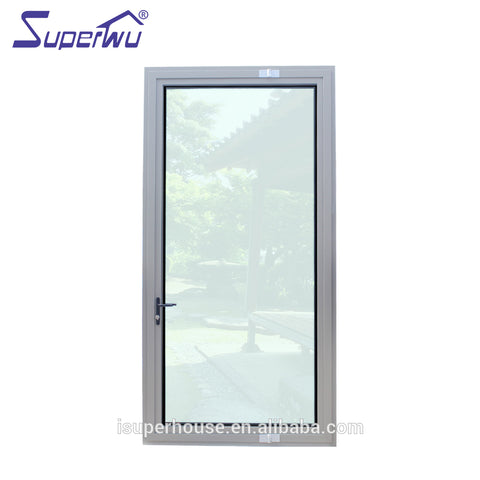 Miami-Dade County Approved aluminum glass french pivot doors exterior on China WDMA