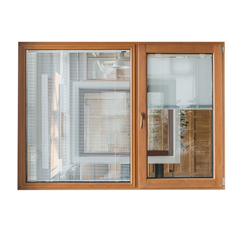Modern Aluminum Wood Casement Double Glazed Windows Electric Jalousie on China WDMA
