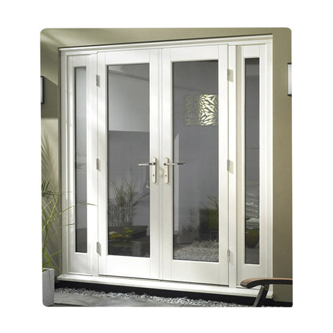 Modern Design Exterior Double Glass Front Casement Swing French Upvc Doors With Security Screen Blind on China WDMA