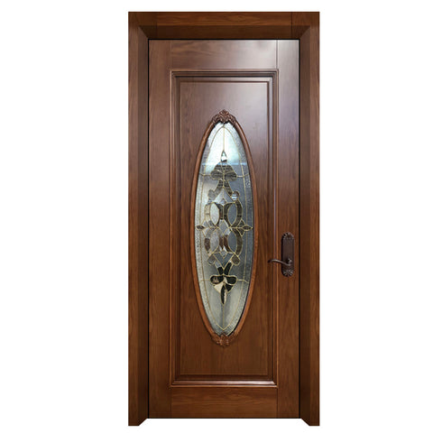 Modern Mideast House Interior Design PVC MDF Inserts Oval Glass Entry Door For Sale on China WDMA