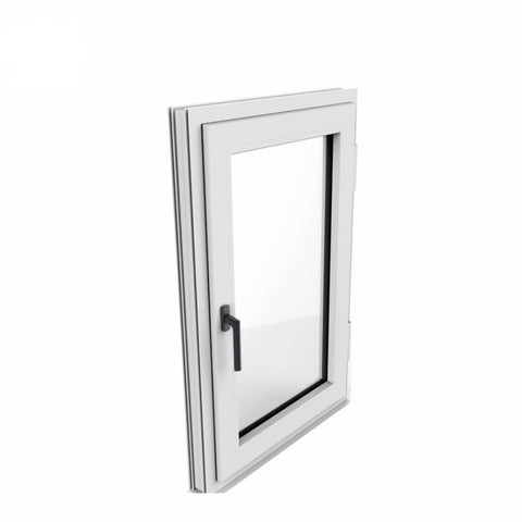 Modern bedroom powder coated home double hung thermal broken aluminum casement window automatic opener on China WDMA