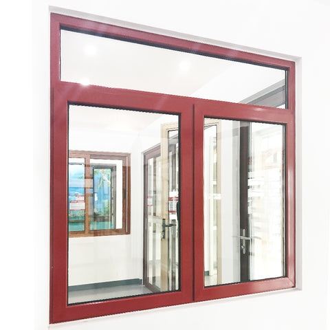 Modern design double glazed aluminium french casement window on China WDMA