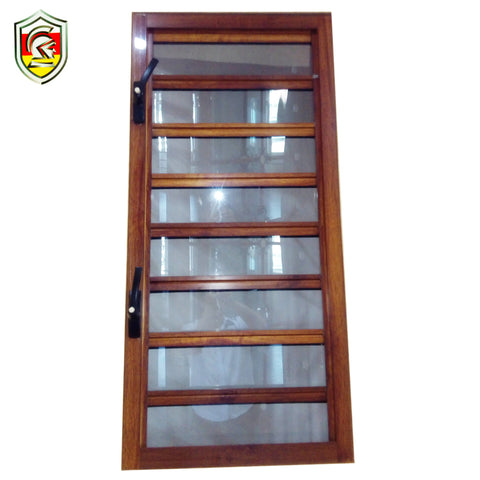 Modern house design exterior aluminium frame adjustable jalousie blinds windows on China WDMA