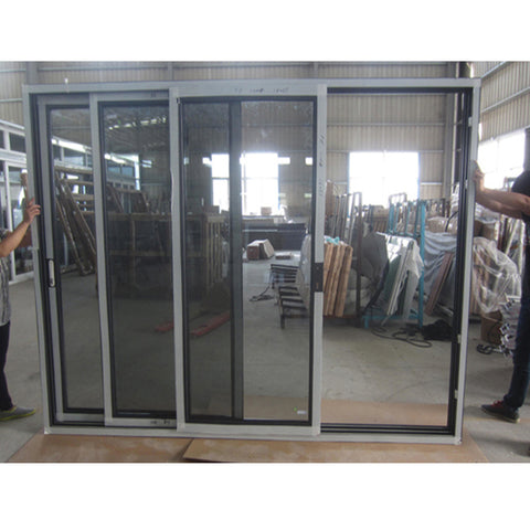 Modern house pvc/upvc hurricane impact sliding door american patio door on China WDMA