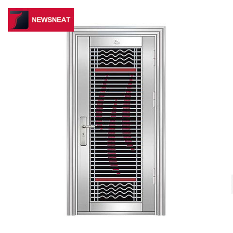 Modern life stainless steel main door design cheap exterior steel door on China WDMA