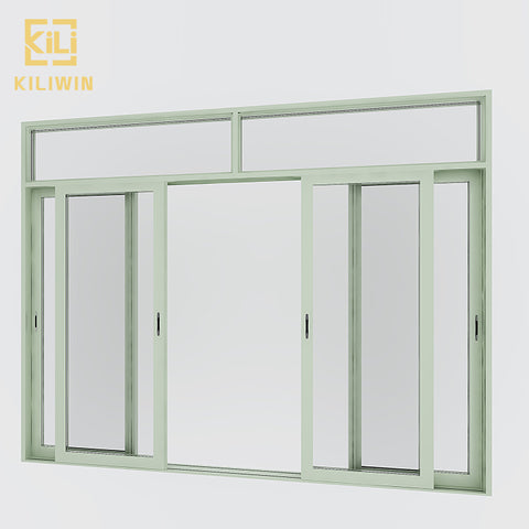 Modern soundproof interior sliding door transom green aluminum frame 4 panel sliding patio doors for philippines on China WDMA