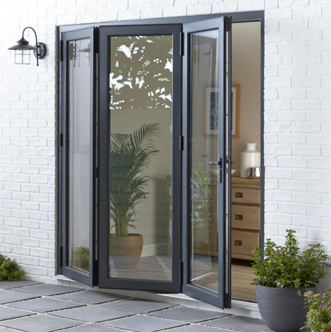 Modern style High quality aluminum folding glass patio door with good price on China WDMA