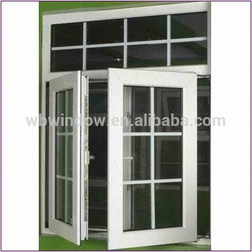 Modern windows aluminum window screen french casement window in China on China WDMA
