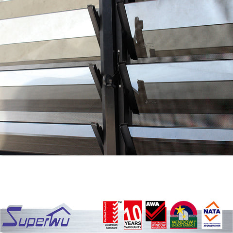 Most popular Aluminium glass louvers window shutter window residential window on China WDMA