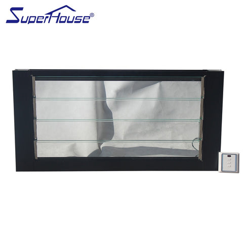 Most popular Electric aluminium frame adjustable glass louvre window for commercial project