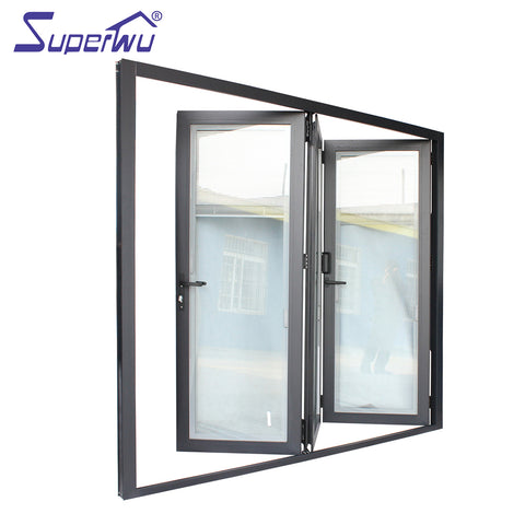 NAFS 2011 American standard Aluminum Glass Door/Folding Door System with Accordion Fly Screen on China WDMA