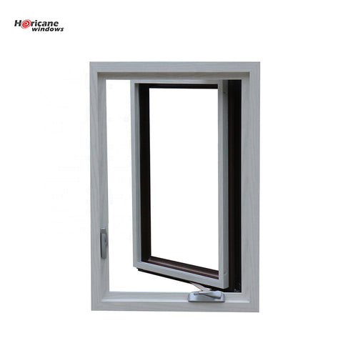 NFRC AS2047 standard gray aluminium casement double glazed windows on China WDMA