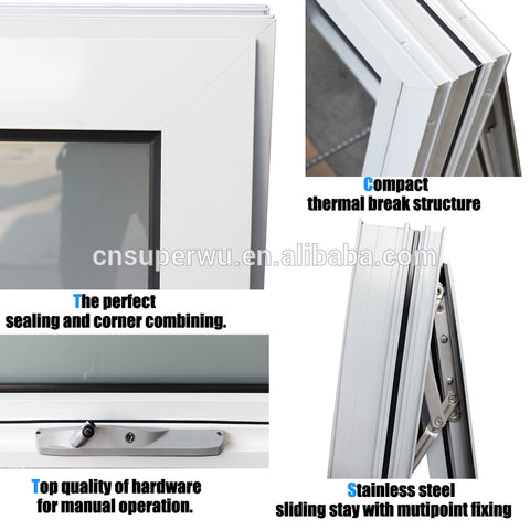NFRC CSA Australian AS2047 standard thermal break large glass cheap house windows for sale on China WDMA