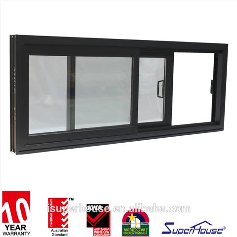 NFRC Superhouse Aluminium Sliding windows Double Balcony glass Curtain Window on China WDMA