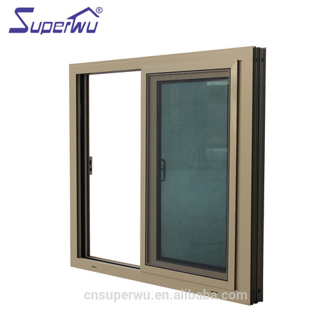 NOA code house windows design reflective glass exterior french sliding window for villa on China WDMA