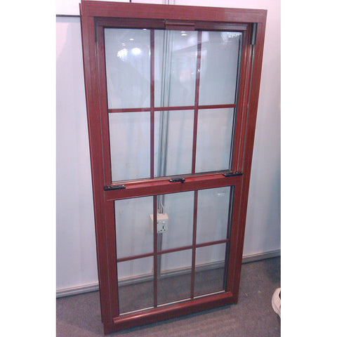 New 2016 Fiberglass Screen Aluminum Frame Double Hung Glass Window on China WDMA