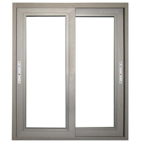 New Design Double Glazed Slide Aluminium Frame Sliding Frosted Glass Window With Screen on China WDMA