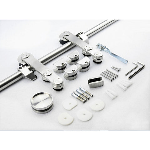 New Design Durable Stainless Steel Sliding Door Barn Door Glass Hardware Track Kit on China WDMA