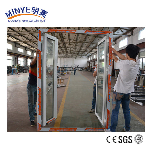 New Design Modern White Aluminum Swing Interior Door French Doors on China WDMA