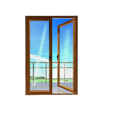New Products PNOC Aluminum Frame Glass Hinged Casement Door interior french doors triple glazed windows doors on China WDMA
