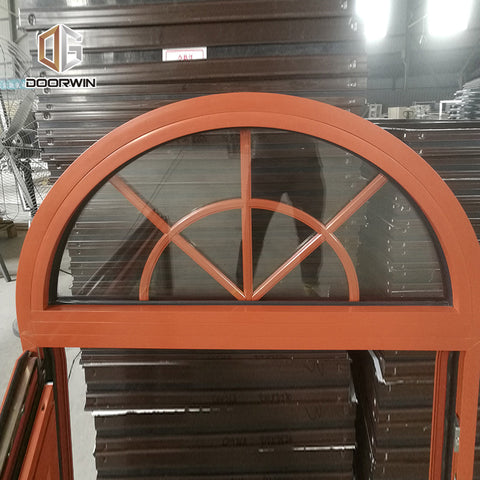 New York custom design round arch design window with built-in shutter on China WDMA