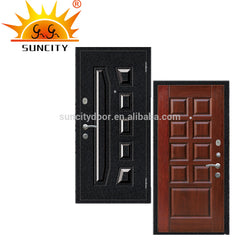New design Bullet Proof machine making exterior steel wooden armored door on China WDMA