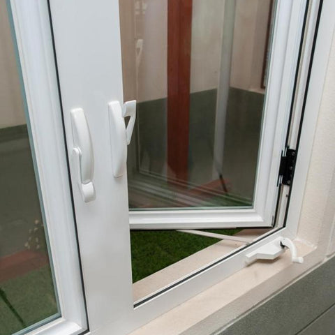 New design UPVC/PVC casement windows outward opening with hand crank opener on China WDMA