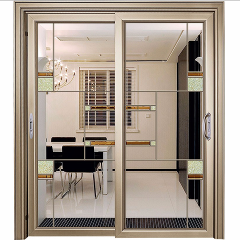 New design automatic sliding glass door / aluminium patio doors sliding on China WDMA