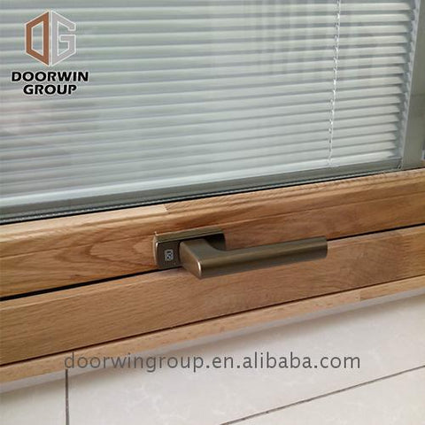 New design doorwin windows with built in shades vinyl clad wood composite on China WDMA