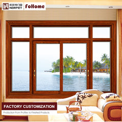 New design double glazed slide aluminium frame sliding frosted glass window with mosquito net 2/4 panels on China WDMA