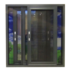 New design double glazed slide aluminium frame sliding frosted glass window with mosquito net on China WDMA