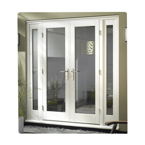 New design exterior pvc commercial glass door half doors french with blind on sale on China WDMA