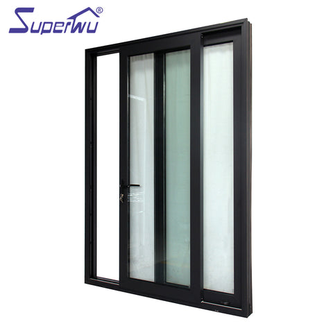 New design interior balcony doors aluminum two panel double glass sliding doors on China WDMA