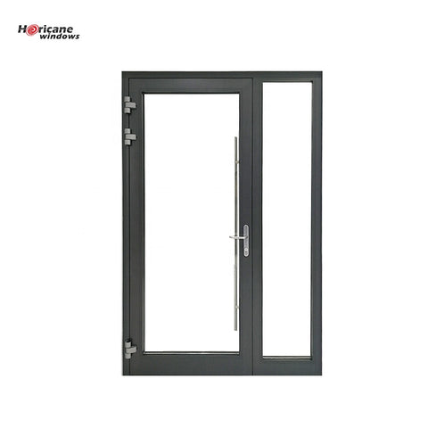 New design supplier exterior colored residential unequal aluminium glass double entry entrance front doors on China WDMA