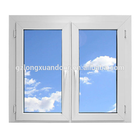 New design swing glass UPVC window used with invisible mosquito net on China WDMA