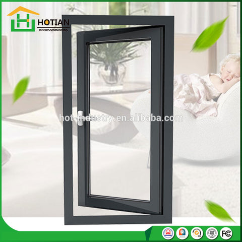 New outdoor wrought iron grill window door designs exterior aluminum sliding window for balcony on China WDMA