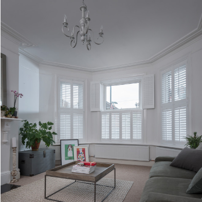 Normal Style PVC L Z Frame Indoor Window Plantation Shutter on China WDMA