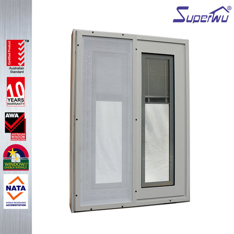 North American standard top quality impact resistant sliding windows with built in blind on China WDMA