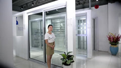 Factory price large exterior sound proof double aluminium profile sliding glass door on China WDMA