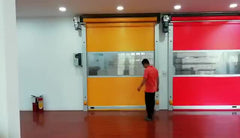 QX High Speed Fast Automatic PVC Folding Roller Shutter Door on China WDMA