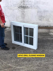 2015 Latest Safety New House Modern UPVC Window Grill Design India For Sliding Windows on China WDMA