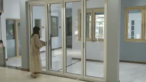 Aluminum soundproof french door casement door with folding screens on China WDMA