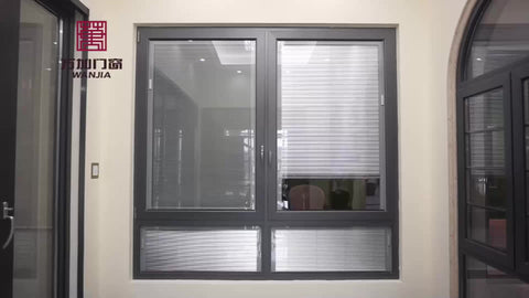 Double glass bow window aluminium french casement louvered windows on China WDMA