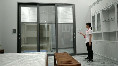 Sliding Glass Doors With Built In Blinds/Exterior Aluminum Louver Sliding Door on China WDMA