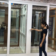 2019 new products popular patio white winterize sliding doors with grills on China WDMA