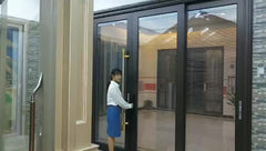 Custom security gate sliding glass door aluminum extrusion 10 foot sliding glass door on China WDMA