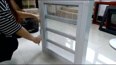Blind Inside Double Glass Aluminium Casement Window With Louver on China WDMA