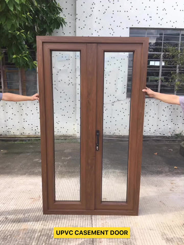 UPVC Cheap Frosted Glass French Interior Door Prices on China WDMA