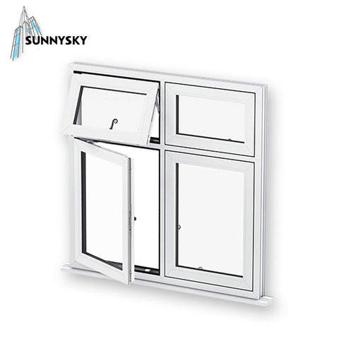 OEM service vinyl prices online 48x48 UPVC casement window as egress on China WDMA
